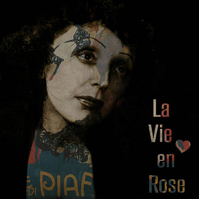 Roses Digital Art Digital Art - Le Vie En Rose  by Paul Lovering