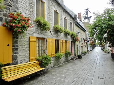 Arquitectural Photograph - Le Vieux Quebec by Aurora Bautista