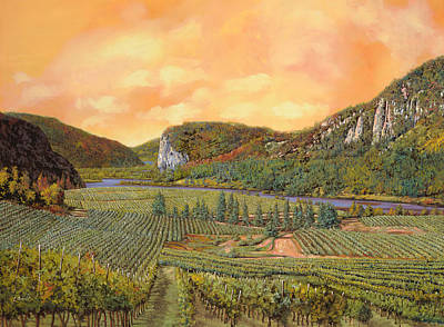River Wall Art - Painting - Le Vigne Nel 2010 by Guido Borelli