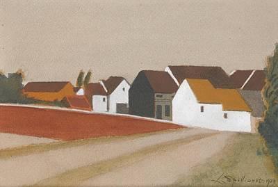 Bassin Painting - Le Village Derrire Le Bassin by Spilliaert