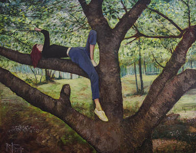 Painting - Lea Henry And The Henry Tree by Ron Richard Baviello