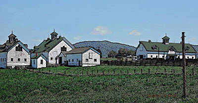 Vale Digital Art - Lea Homestead by DigiArt Diaries by Vicky B Fuller