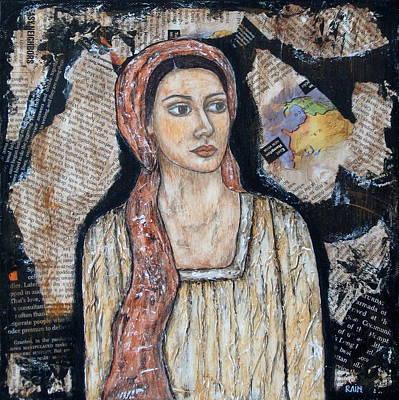 Folk Art Angel Painting - Lea by Rain Ririn
