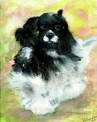 Black Cocker Spaniel Painting - Lead On by Debra Lampert-Rudman