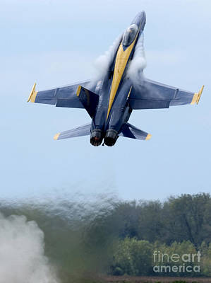 F-18 Photograph - Lead Solo Pilot Of The Blue Angels by Stocktrek Images