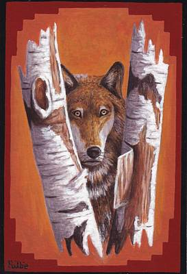 Painting - Leader Wolf by Billie Bowles
