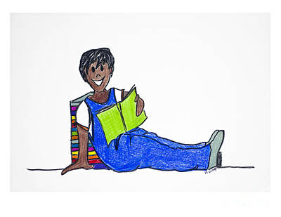 Drawing - Leaders Are Readers 4 by Rebecca Weeks Howard
