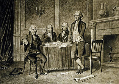 Independence Drawing - Leaders Of The First Continental Congress by Augustus Tholey