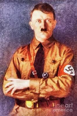 Leaders Of Wwii, Adolf Hitler, Germany Art Print