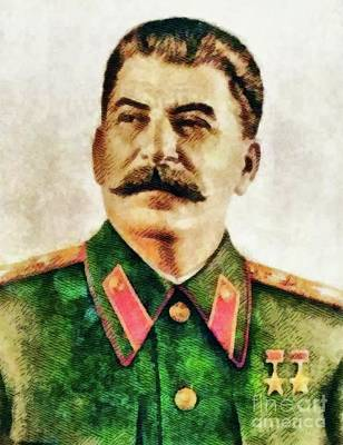 Somme Painting - Leaders Of Wwii - Joseph Stalin by John Springfield