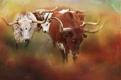 Cattle Drive Photograph - Leading The Herd by Toni Hopper