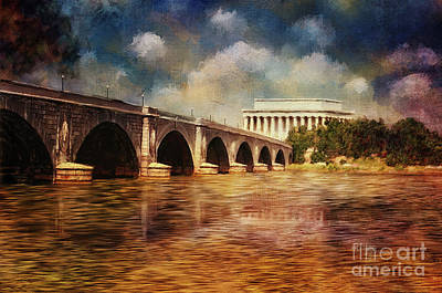 Greek Columns Digital Art - Leading To Lincoln by Lois Bryan
