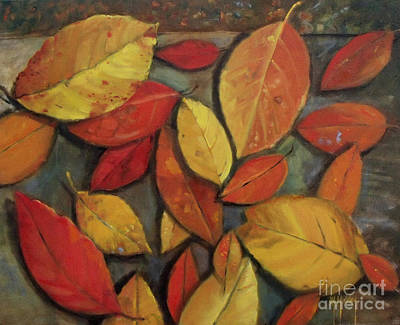 Painting - Leaf Collection by Mary Hubley