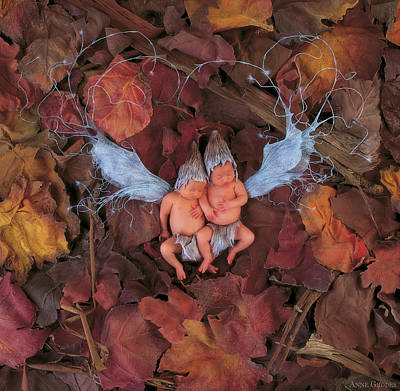 Print featuring the photograph Leaf Fairies by Anne Geddes