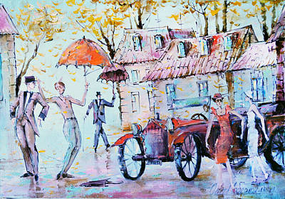 Painting - Leaf-fall by Oleg  Poberezhnyi
