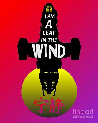 Leaf In The Wind Print by Justin Moore