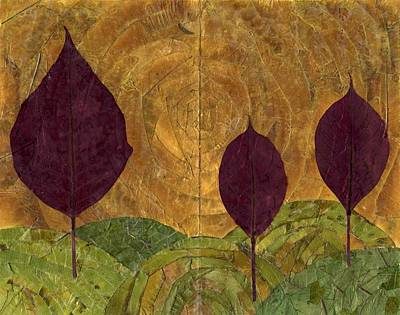 Maple Leaf Art Mixed Media - Leaf Landscape by Brett Pfister