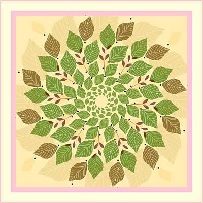 Leaf Mandala Art Print by Rosemary Babikan