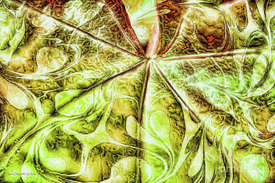 Photograph - Leaf Painting by Jean OKeeffe Macro Abundance Art