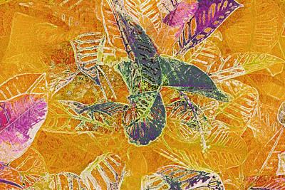 Mixed Media - Leaf Pattern 14 by Lynda Lehmann