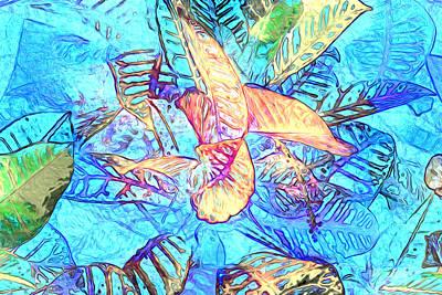 Photograph - Leaf Pattern 34 by Lynda Lehmann