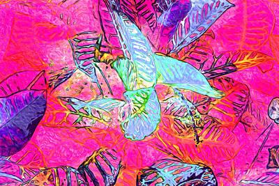Digital Art - Leaf Pattern 39 by Lynda Lehmann