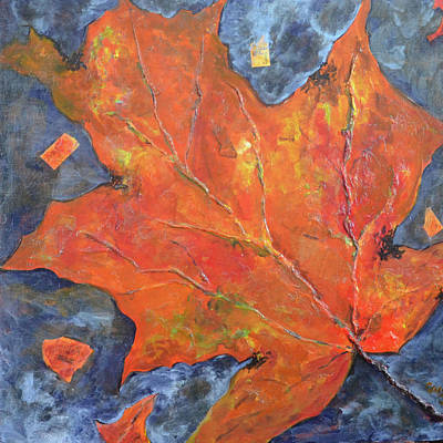 Leaf Seeking Rest Original by Cynthia Matthews