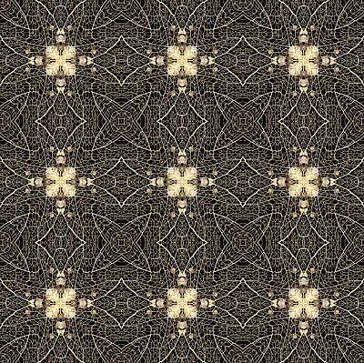 Digital Art - Leaf Skeleton Terrazzo 2 by Karen Musick