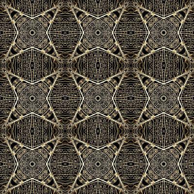 Digital Art - Leaf Skeleton Terrazzo 4 by Karen Musick