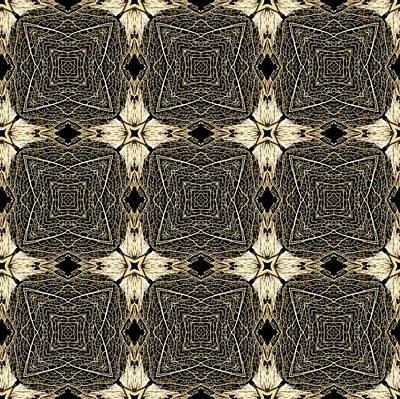 Digital Art - Leaf Skeleton Terrazzo 5 by Karen Musick
