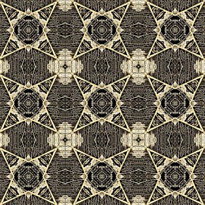 Digital Art - Leaf Skeleton Terrazzo  by Karen Musick