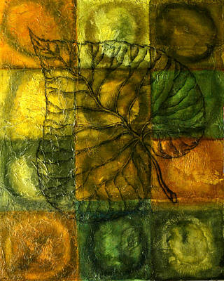 Abstract Pattern Painting - Leaf Whisper by Leon Zernitsky