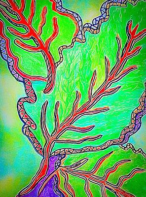 Digital Art - Leafy Abstract by Anne Sands