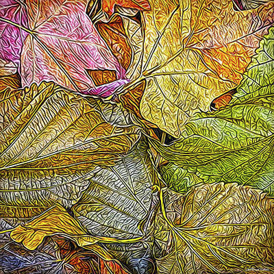Digital Art - Leafy Autumn Mandala by Joel Bruce Wallach