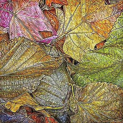 Digital Art - Leafy Autumn Mandala by Joel Bruce Wallach
