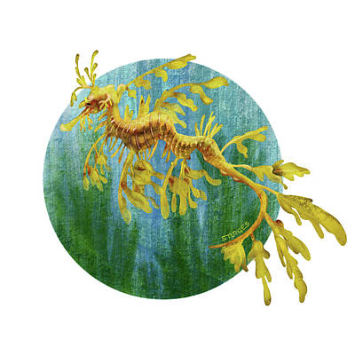 Digital Art - Leafy Dragon by Simon Sturge