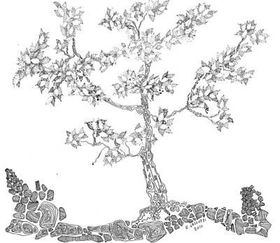 Leafy Jewels Art Print