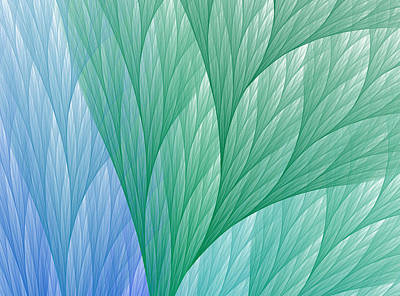 Abstract Digital Art - Leafy Jungle by Anna Bliokh