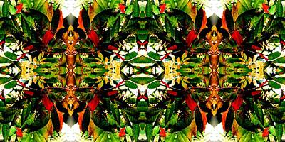 Photograph - Leafy Kaleidoscope 2 by Marianne Dow