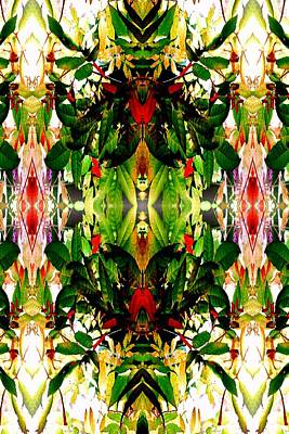 Photograph - Leafy Kaleidoscope 3 by Marianne Dow
