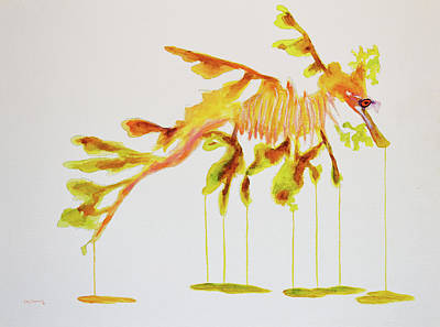 Lionfish Painting - Leafy Sea Dragon by Ken Figurski