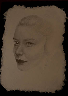 Drawing - Leah by Lynn Hughes