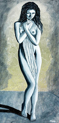 Painting - Leah, Nude Female Figure Standing by Michelle Joseph-Long