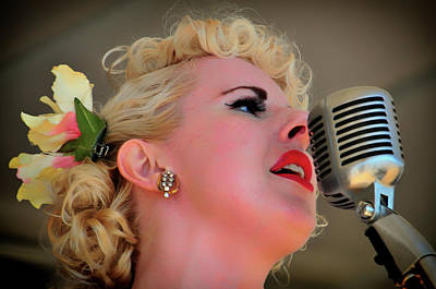 Photograph - Leah Sings  by Mike Martin