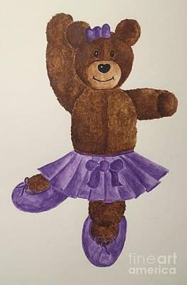 Painting - Leah's Ballerina Bear 1 by Tamir Barkan