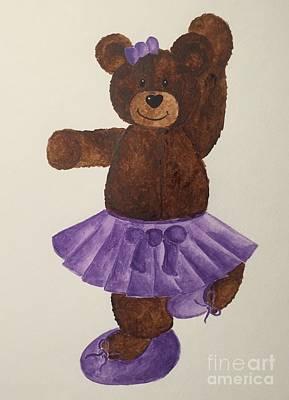 Painting - Leah's Ballerina Bear 4 by Tamir Barkan