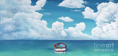 Leaky Little Boat Art Print