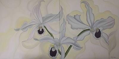 Painting - Lealia Purpurata   Orchide by Marinella Owens