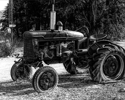 Photograph - Leamington Farmall Bw by David King