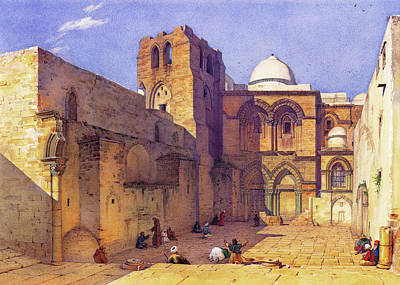 Photograph - Leander Russ Church Of Holy Sepulchre by Munir Alawi